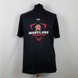 Under Armour Loose Black Maryland Terrapins Sz L